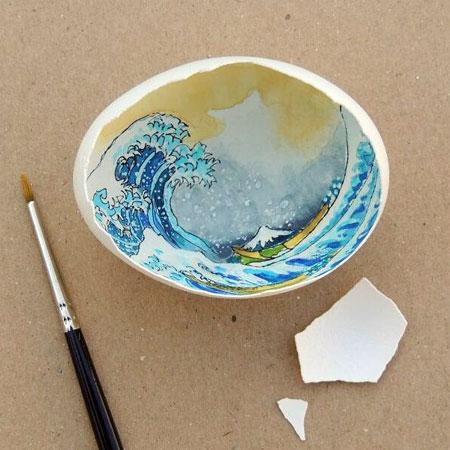 Eggshell Painting