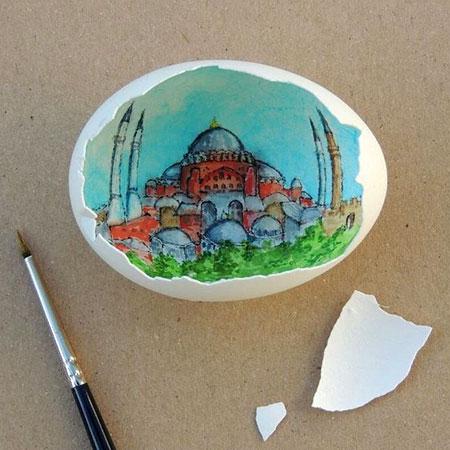 Sureyya Noyan Eggshell Art