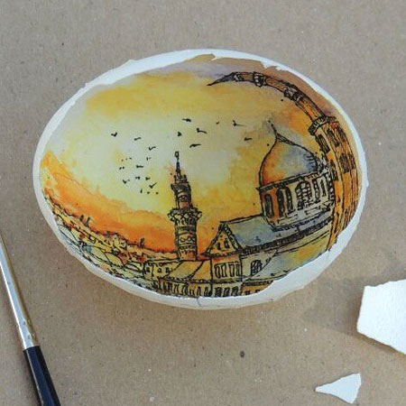 Art on Eggshells by Sureyya Noyan