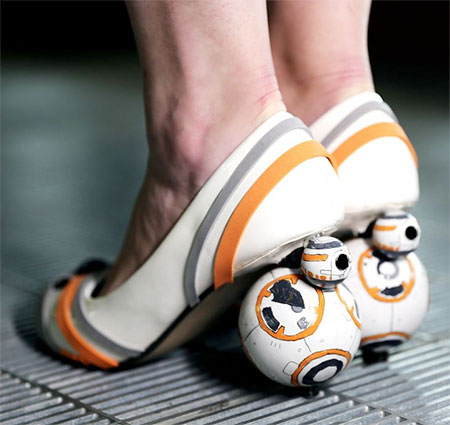 Star Wars BB-8 zapatos de tacón alto