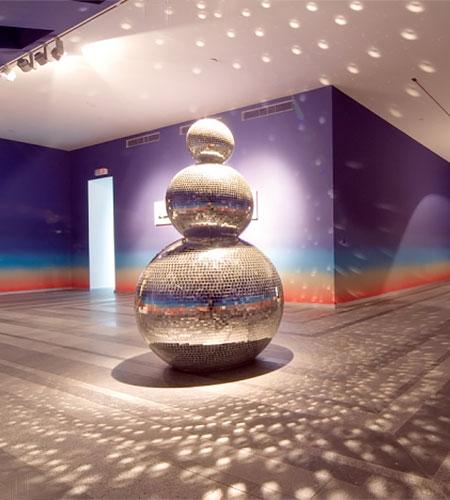 Kristina Solomoukha Disco Ball Snowmen