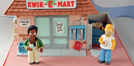 Simpsons Kwik-E-Mart Cake
