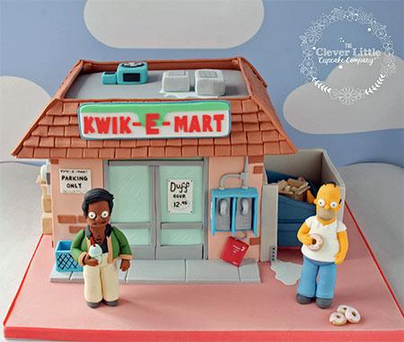 Kwik-E-Mart Cake