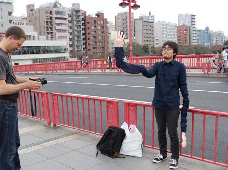 Japanese Man Selfie Stick