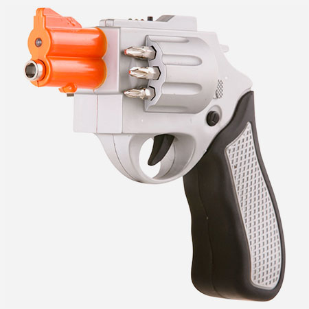 Revolver Shaped Screwdriver