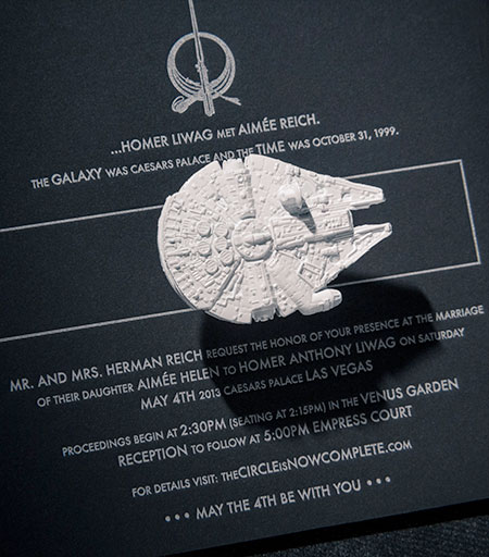 Star Wars Wedding Invite