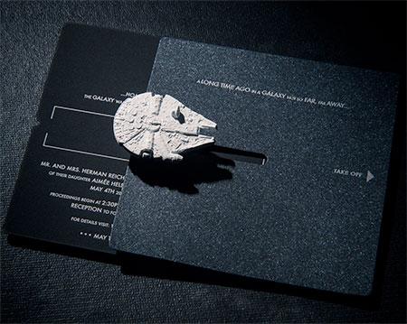 Star Wars Inspired Wedding Invitation