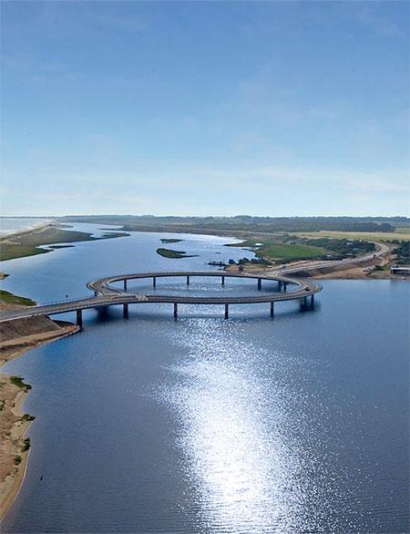 Circular Bridge in Uruguay