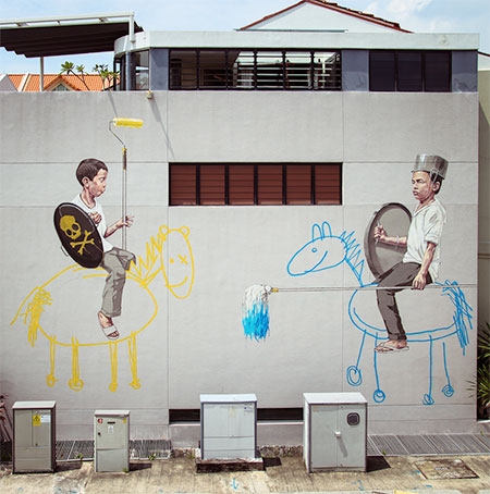 Street Artist Ernest Zacharevic