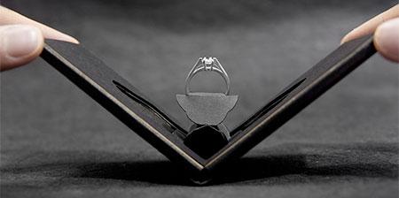Flat Engagement Ring Box