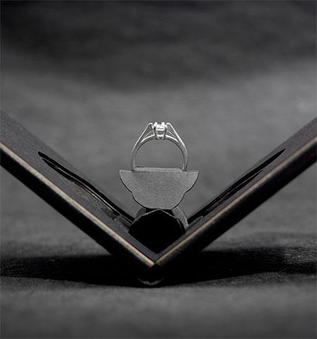 Andrew Zo Flat Engagement Ring Box