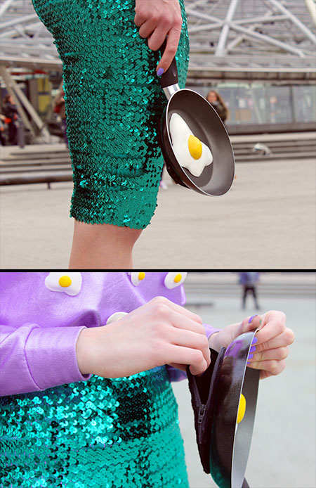 Frying Pan Clutch Bag