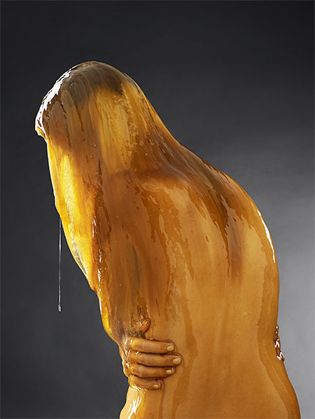 Model Covered in Honey