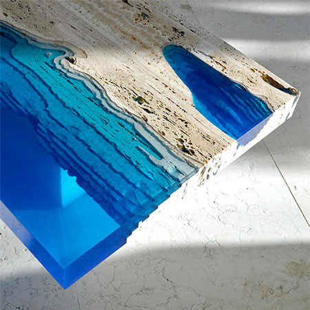 Glass Lagoon Tables