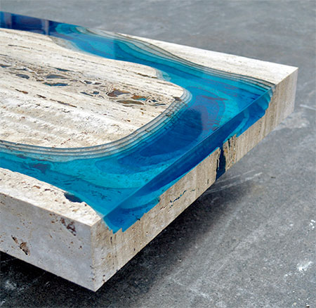 Glass Lagoon Table
