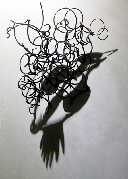 Larry Kagan Wire Shadow Art