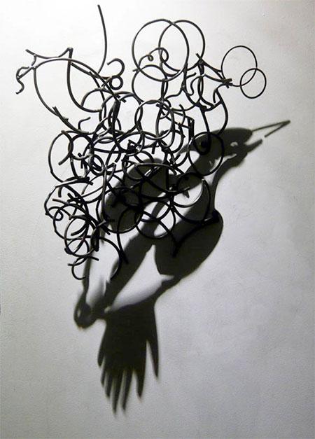 Larry Kagan Wire Shadow Art