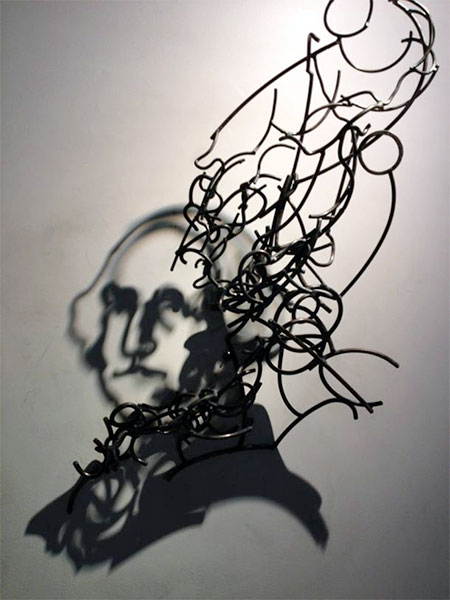 Larry Kagan Wire Shadow Sculptures