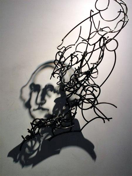 Larry Kagan Wire Shadow Sculptures