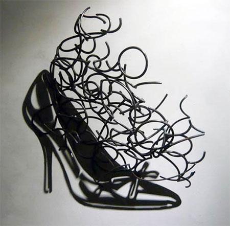 Wire Shadow Sculpture