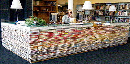 Desk Made of Books