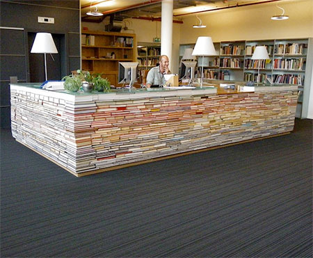 Desk Made out of Books