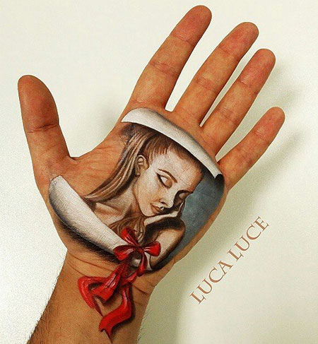 Optical Illusion Hand Paintings