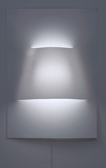 Wall Lamp Made of Paper