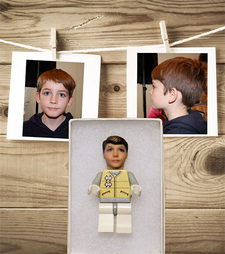 Realistic LEGO Face