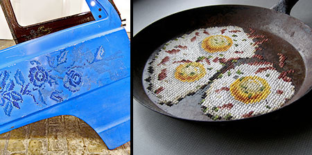Embroidered Metal Art