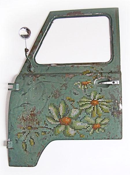 Embroidered Car Door