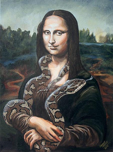 Snake Mona Lisa