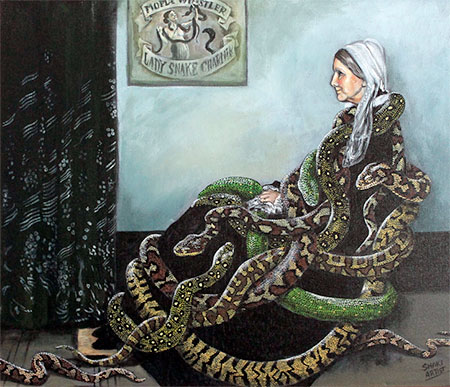 Bill Flowers Snake Art