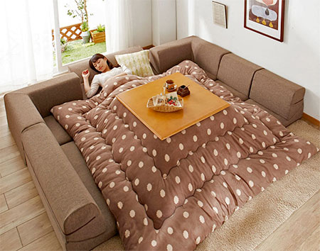 Blanket Table Bed