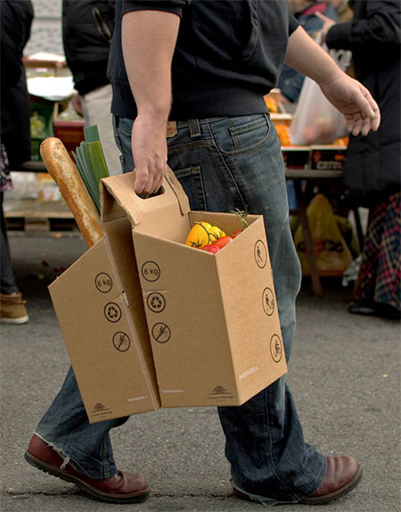 Cardboard Grocery Carrier