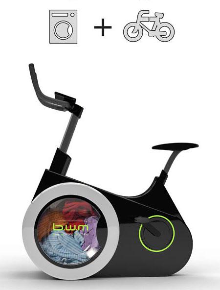 Stationary Bicycle Washing Machine