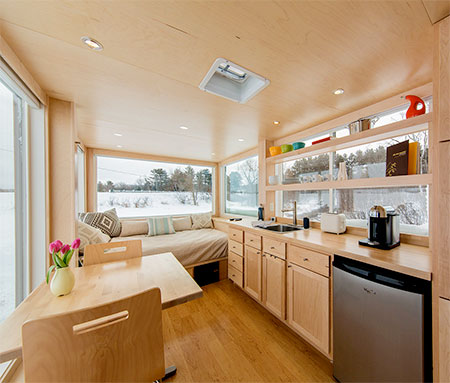 Wood Cabin on Wheels
