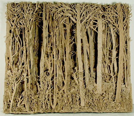 Forest Made of Cardboard