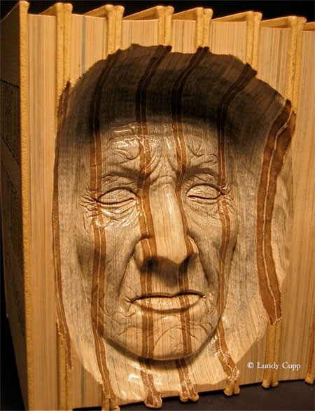 Lundy Cupp Carved Books