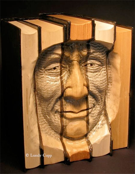 Lundy Cupp Book Carving