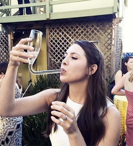 Champagne Bong Glass