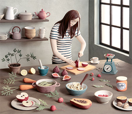 3D Clay Illustration