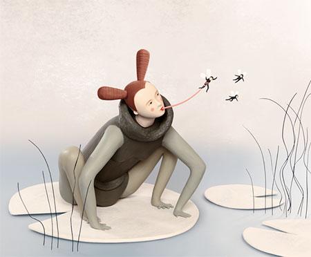 Irma Gruenholz Clay Sculptures