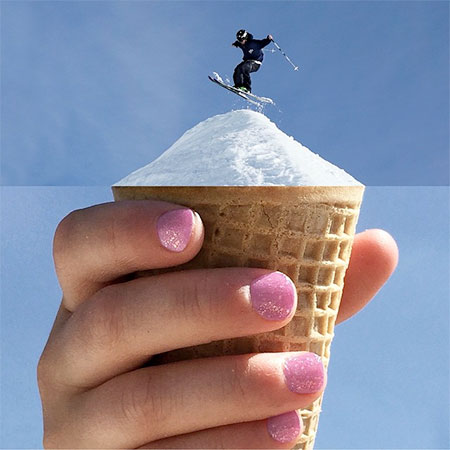 Snow Ice Cream Cone