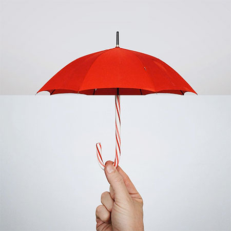 Umbrella Candy Cane
