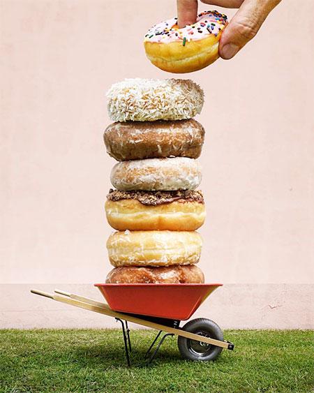 Donuts Wheelbarrow