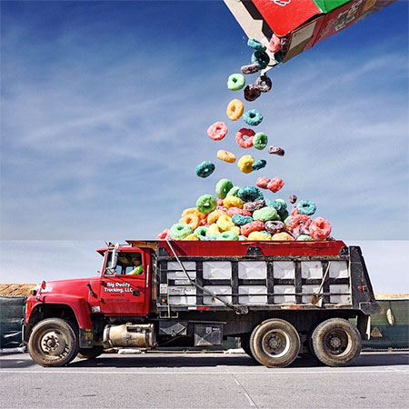 Fruit Loops Dump Truck