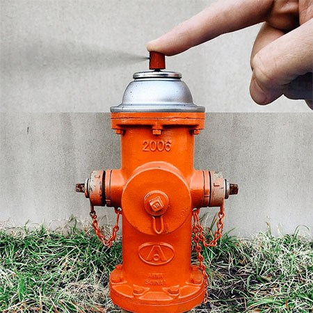 Spray Paint Fire Hydrant