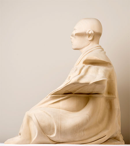 Paul Kaptein Distorted Wooden Sculpture