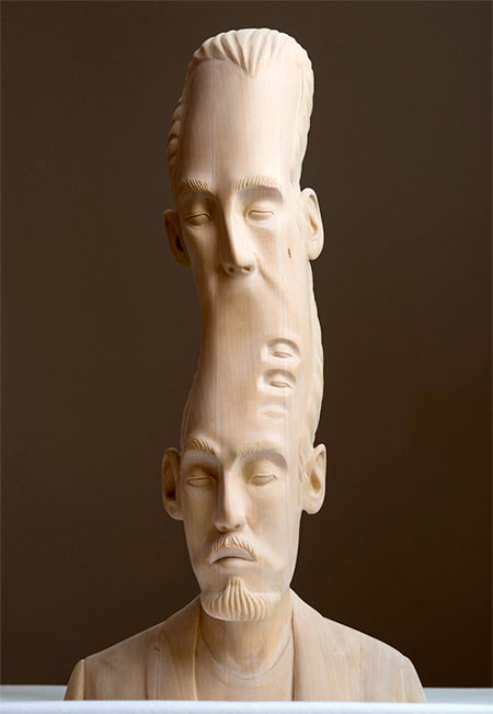 Paul Kaptein Wooden Sculpture